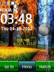 Park Digital Clock theme screenshot