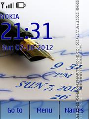 Скриншот темы Ink Pen clock