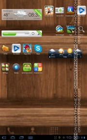 Скриншот темы Wood Theme