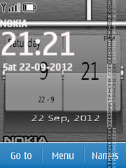 Nokia Digital Clock 03 theme screenshot