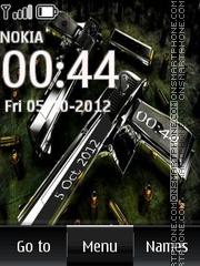 Скриншот темы Gun Digital Clock 01