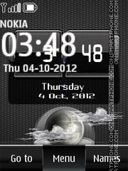 Black Htc Digital Clock 01 Theme-Screenshot
