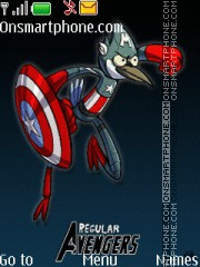 Скриншот темы Regular Show Avengers