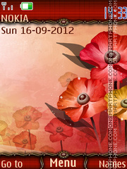 Red poppy tema screenshot