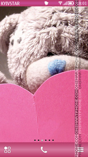 Romantic Teddy tema screenshot