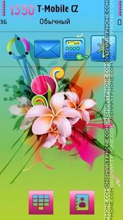 Summer In Flowers es el tema de pantalla