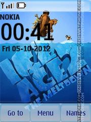 Animated Ice Age theme screenshot