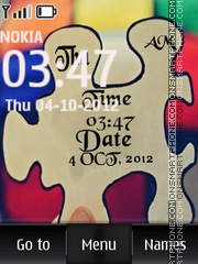 Puzzle Clock theme screenshot