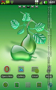 Green Pears tema screenshot