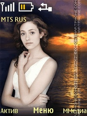 Emmy Rossum theme screenshot
