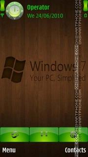 Скриншот темы Windows 7 Wood