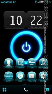 Blue Aura theme screenshot