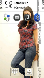 Kajal Agarwal theme screenshot