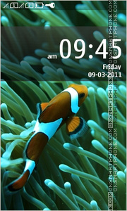 Aqua Touch Fish theme screenshot