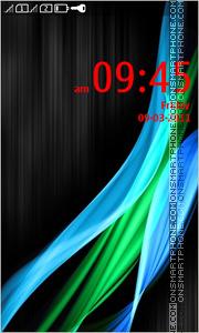 Neon Stripes theme screenshot