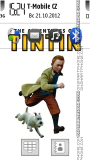 The adventure of tin tin theme screenshot