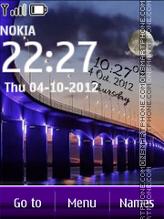 Bridge Digital Clock tema screenshot