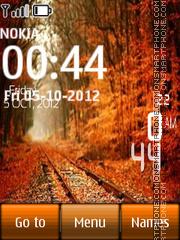Autumn Park Digital Clock theme screenshot