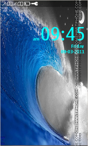 Blue Wave 04 theme screenshot