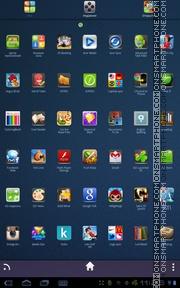 Скриншот темы Blue UR