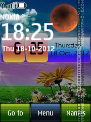 Day Night Digital Clock theme screenshot