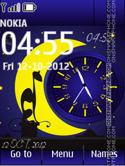 Night Dual Clock theme screenshot
