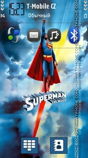 Superman theme screenshot