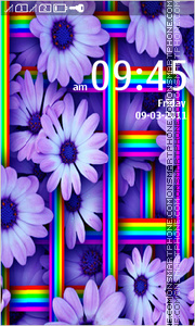 Purple Floral 01 theme screenshot