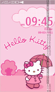 Hello Kitty 41 theme screenshot