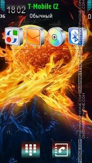 Flaming Heart 01 theme screenshot