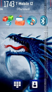 Dragon Neon tema screenshot