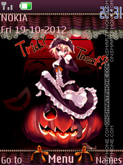 Trick? treat? tema screenshot