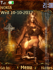 Gothic autumn tema screenshot