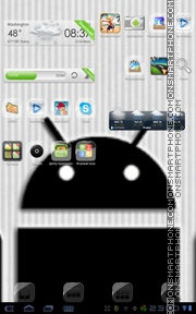 Dark Droid tema screenshot