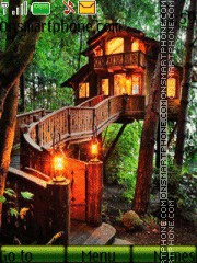 Скриншот темы Bamboo Jungle House