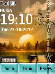 Sunrise Digital SWF tema screenshot