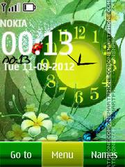 Скриншот темы Green Nature Dual Clock
