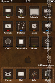Leather Touch tema screenshot