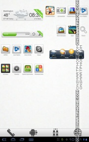 Aerish GTX tema screenshot