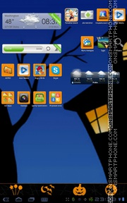 Скриншот темы GO Launcher EX Theme Halloween