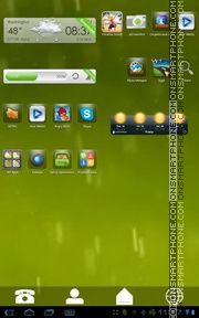 Green 812 tema screenshot