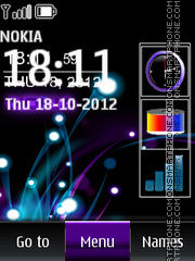 Neon Nokia All In One theme screenshot
