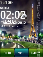 Paris Digital Clock theme screenshot