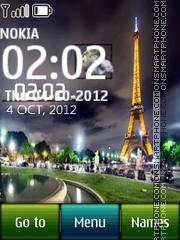 Paris Digital Clock theme screenshot