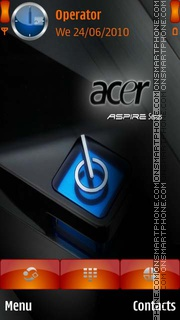 Acer-Aspire Blue theme screenshot