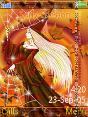 Autumn Witch 01 tema screenshot
