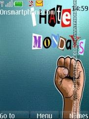 Hate Mondays theme screenshot