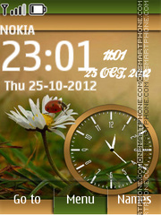 Ladybird Dual Clock theme screenshot
