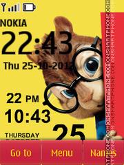 Скриншот темы Chipmunk Clock 01