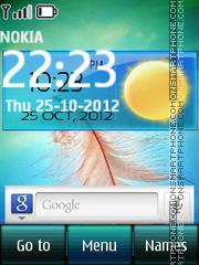 Galaxy Note Digital theme screenshot